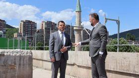 Direktor Vakufske direkcije u posjeti Muftijstvu zeničkom; Islamski centar u Zenici poprima svoj predviđeni oblik