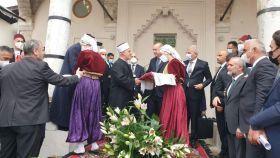 Predsjednik Turske Erdogan i reisu-l-ulema Kavazović svečano otvorili Baščaršijsku džamiju