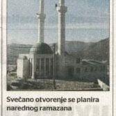 Radno otvorenje Džamija u Gornjem Zaliku Ponos muslimana u Mostaru
