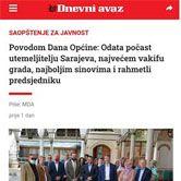 Povodom Dana Općine: Odata počast utemeljitelju Sarajeva, najvećem vakifu grada, najboljim sinovima i rahmetli predsjedniku