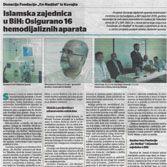 Islamska zajednica u BiH: Osigurano 16 hemodijaliznih aparata