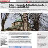 Nakon resturacije: Baščaršijska džamija će 12.marta opet zablistati
