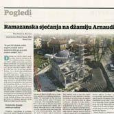 Ramazanska sjećanja na džamiju Arnaudiju